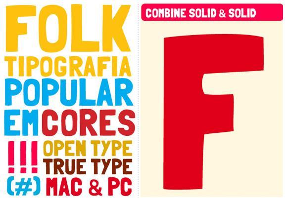Folk font by Marcelo Magalhães