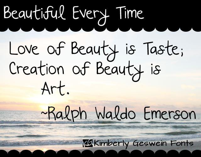 Beautiful Every Time font by Kimberly Geswein