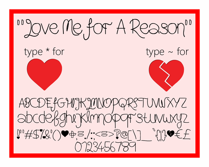 Image for Love Me For A Reason font