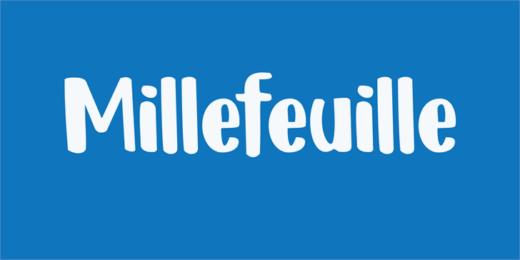Image for DK Millefeuille font