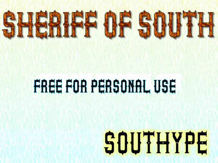 Image for Sheriff of South St font