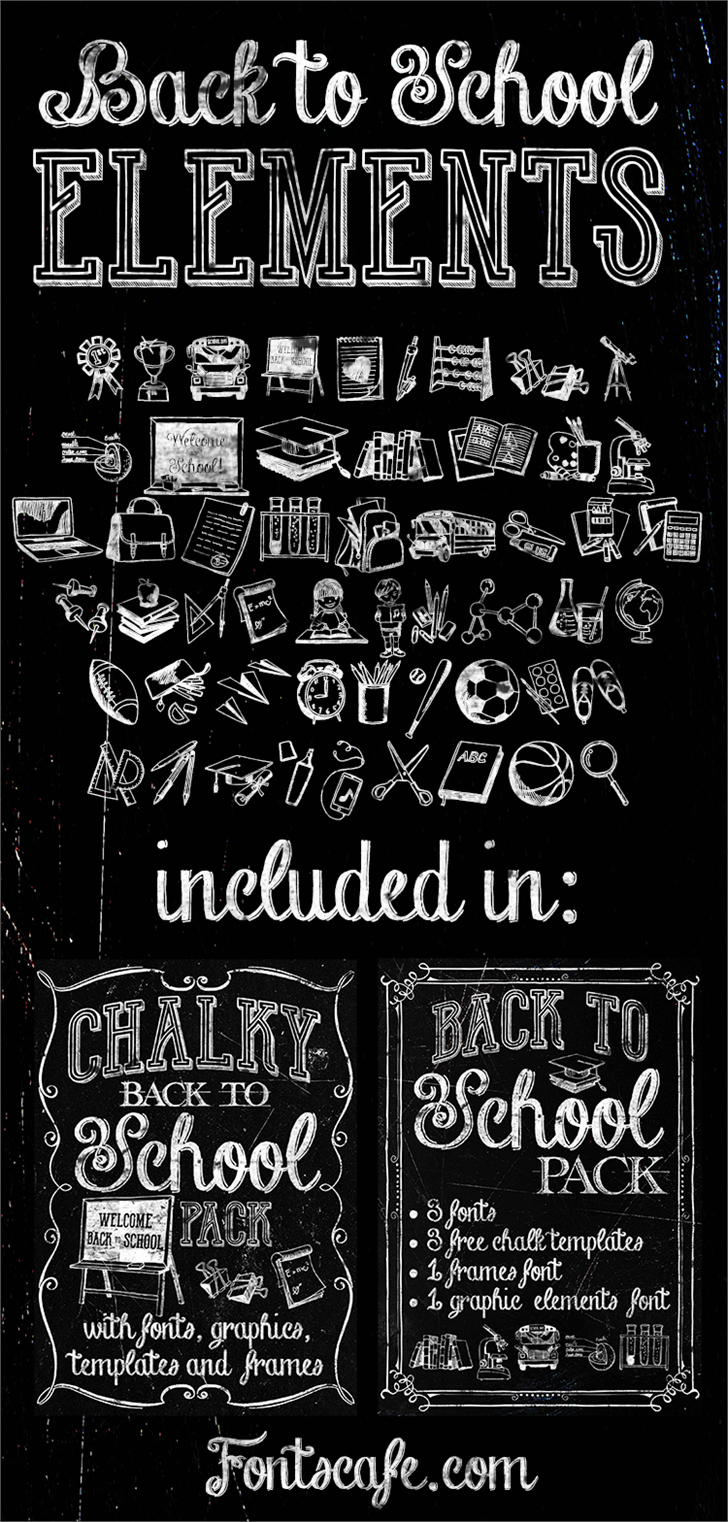 Image for Back to School Elements DEMO font