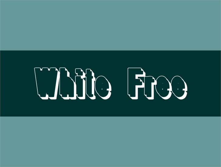 White Free font by Intellecta Design