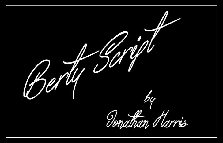 Image for Berty Script font