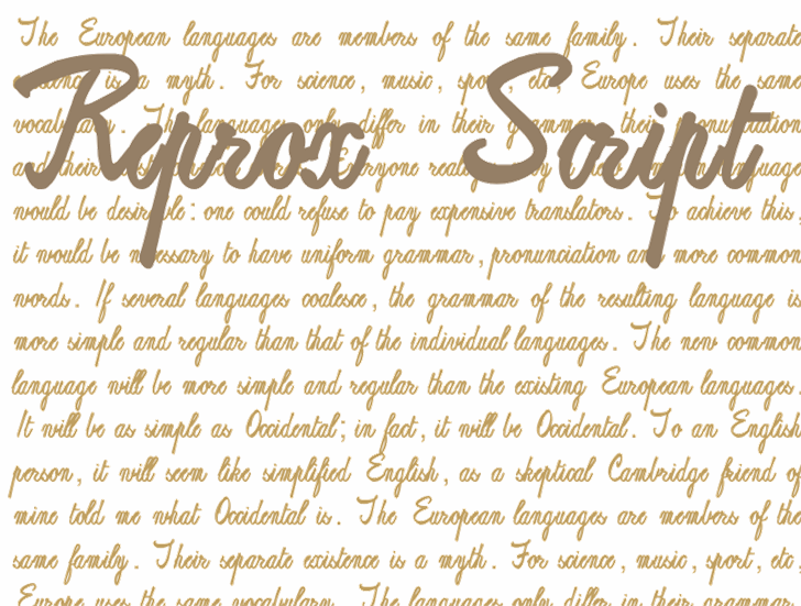 Image for ReproxScript font