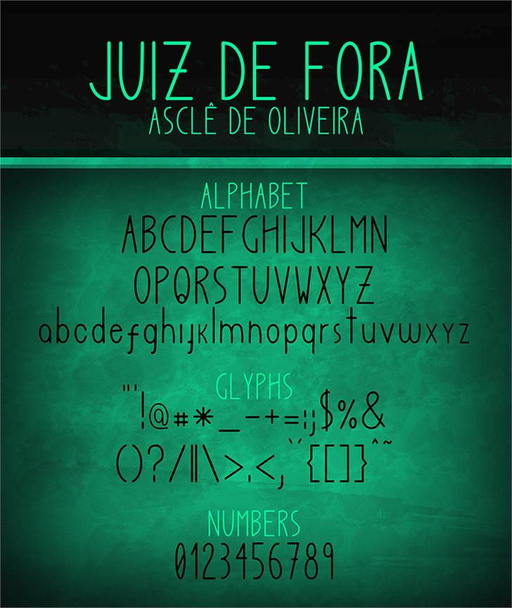 Juiz de Fora font by Asclê de Oliveira