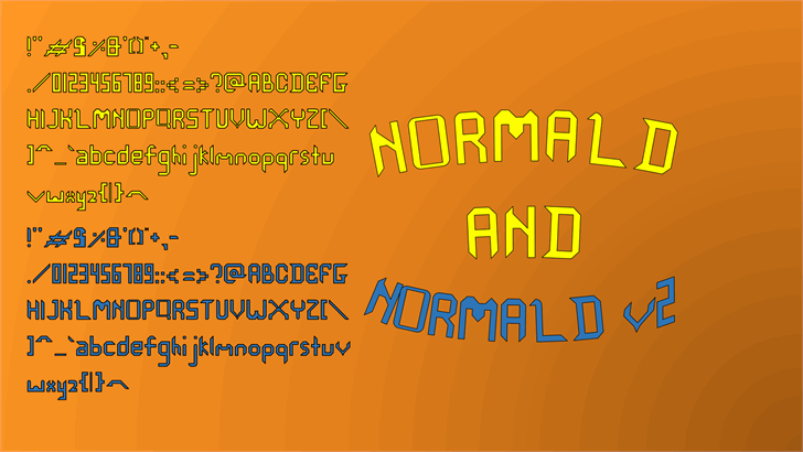 Image for Normald font
