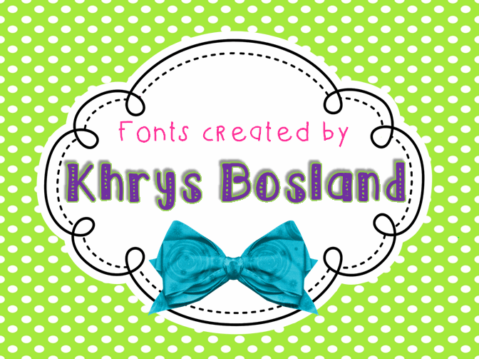 KBRibbonsAndBows font by KhrysKreations