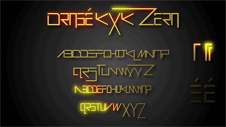 Drosé KXK Zero font by XoSK Fonts