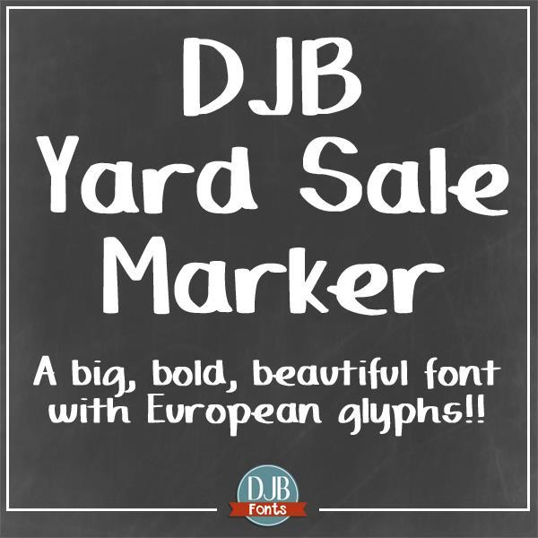 Image for DJB Yard Sale Marker font