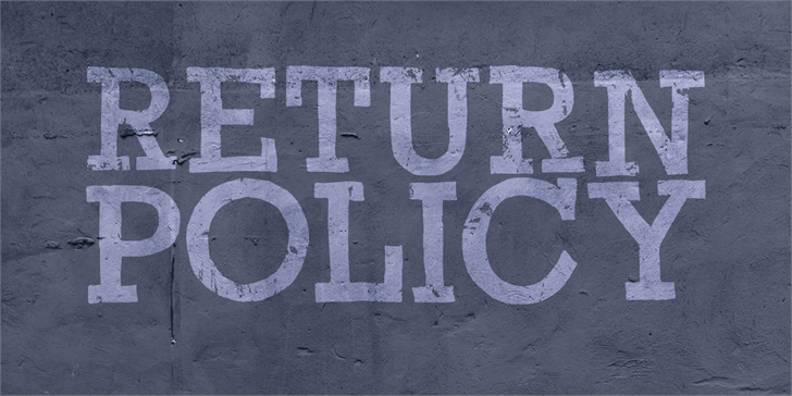 Image for Return Policy DEMO font