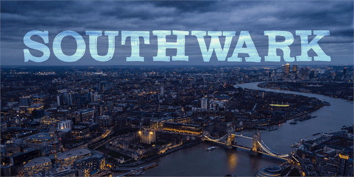 DK Southwark font by David Kerkhoff