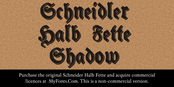 Image for Schneidler Halb Fette Shadow font