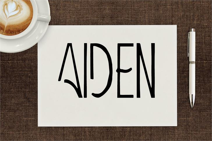 Aiden font by Creativetacos