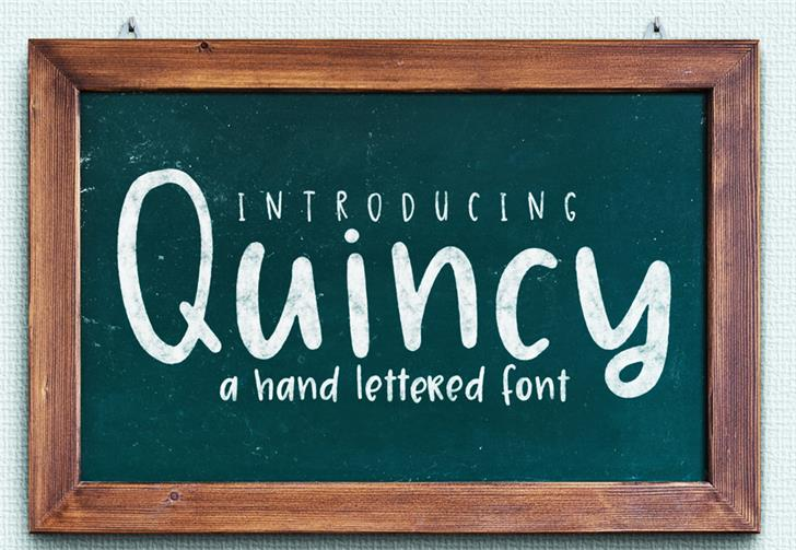 Quincy font by GroovyJournal