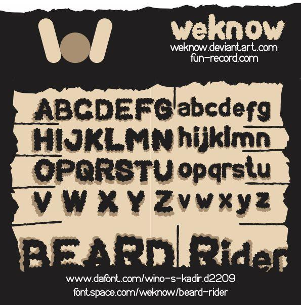 Image for BEARD Rider font