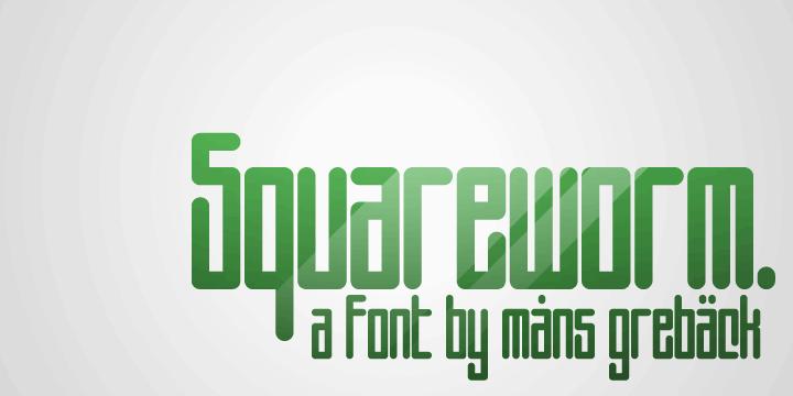 Squareworm font by Måns Grebäck