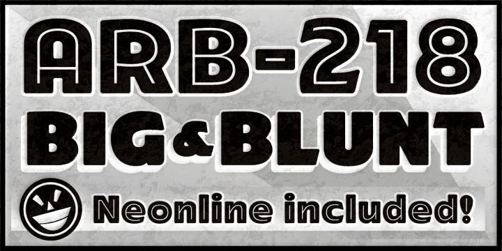 ARB-218 Big Blunt MAR-50 font by the Fontry