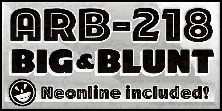 Image for ARB-218 Big Blunt MAR-50 font