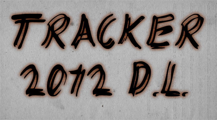 Image for TRACKER font