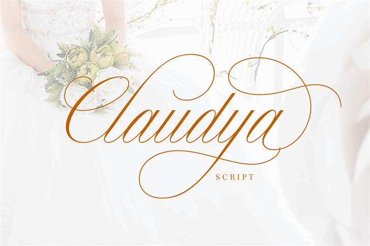 Image for Claudya Script Demo font