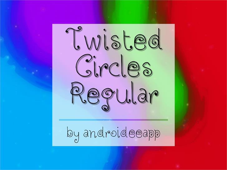 Twisted Circles Regular font by Androideeapp