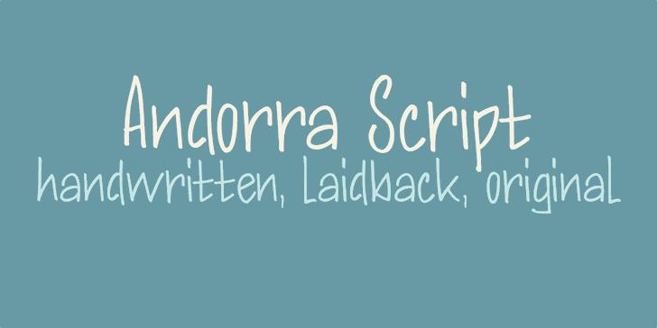 DK Andorra Script font by David Kerkhoff
