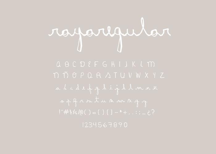Image for Rayairregular font