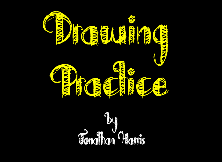 Drawing Practice font by Jonathan S. Harris