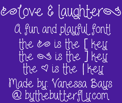 Image for Love and laughter font
