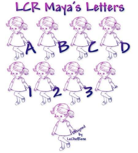 LCR Maya's Letters font by LeChefRene