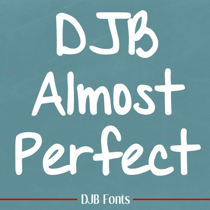 DJB Almost Perfect font by Darcy Baldwin Fonts