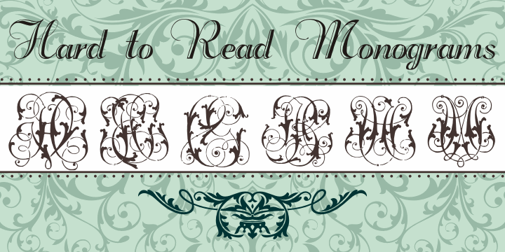 Hard to Read Monograms font by Intellecta Design