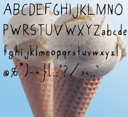 Image for Vanilla_Ice-Cream font