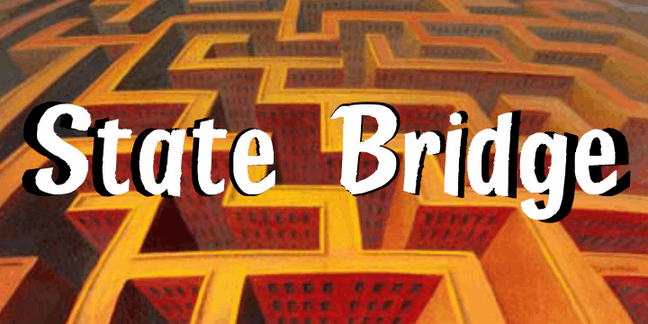 Image for State Bridge font
