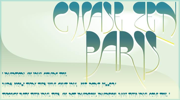 Image for CHASE ZEN PARIS  font