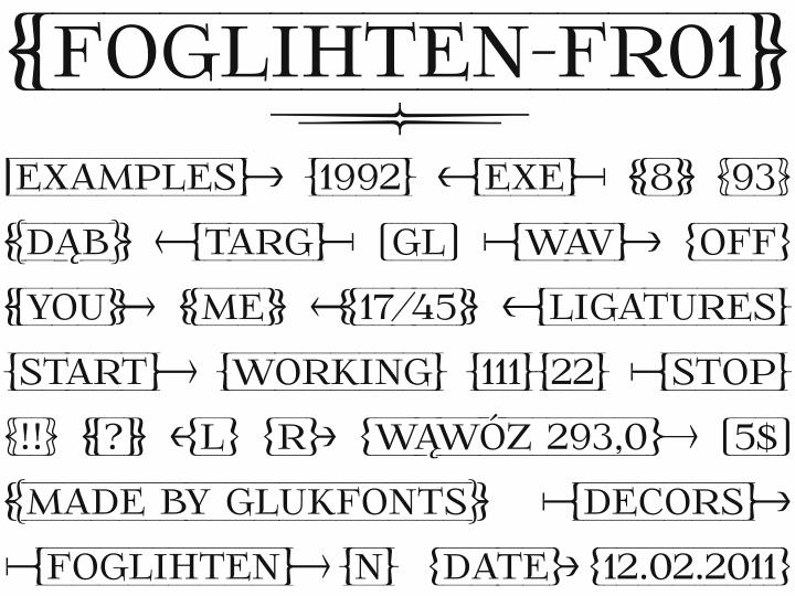 Image for FoglihtenFr01 font