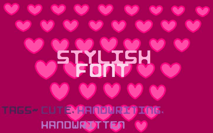 Image for Stylish I font