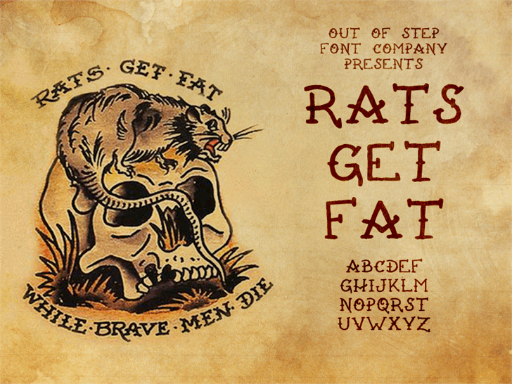 Rats Get Fat font by Out Of Step Font Company