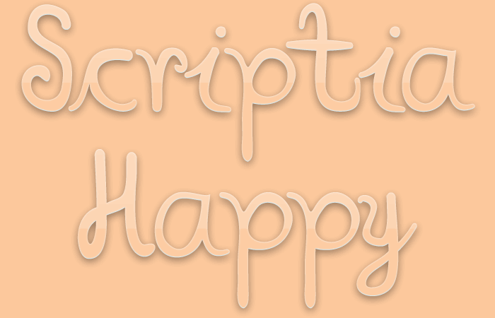 Image for Scriptia Happy font