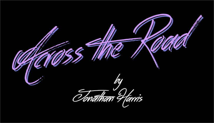 Across the Road font by Jonathan S. Harris