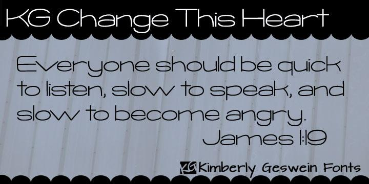Image for KG Change This Heart font