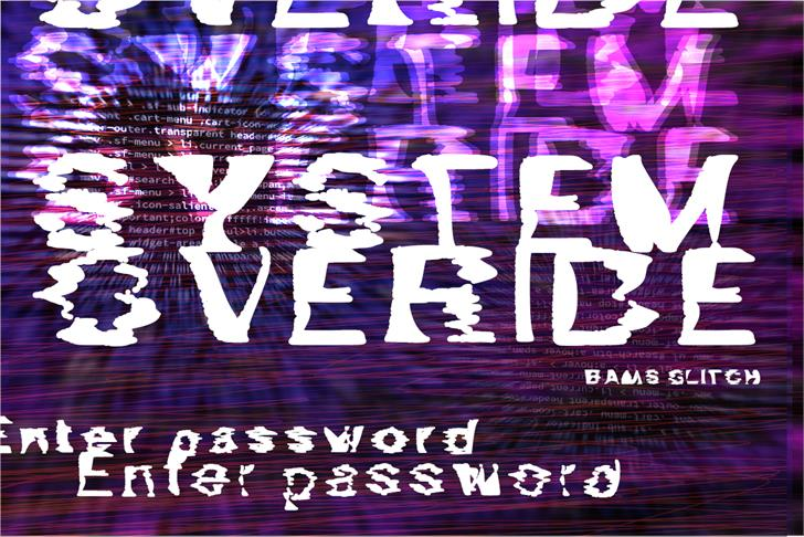 Image for Bams Glitch Demo font