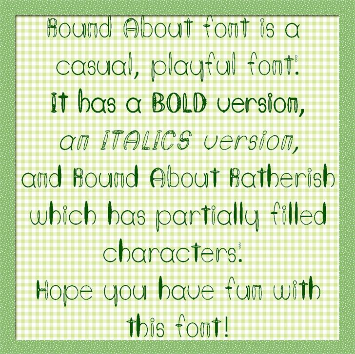 Round About font by Art Designs by Sue