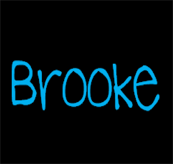 Image for BrookeShappell8 font