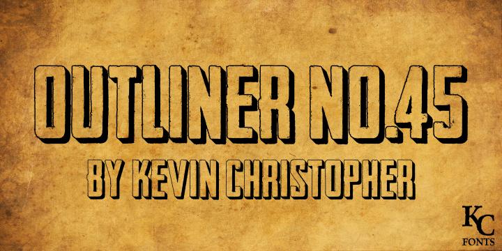 Image for Outliner No. 45 DEMO font