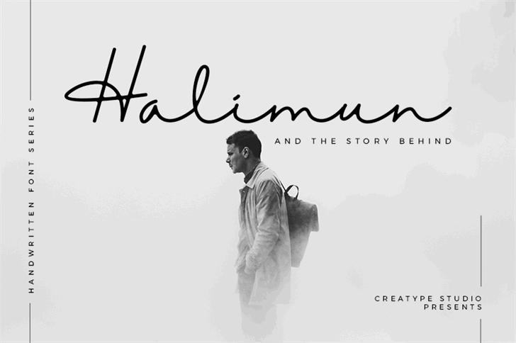 Halimun font by Creatype Studio