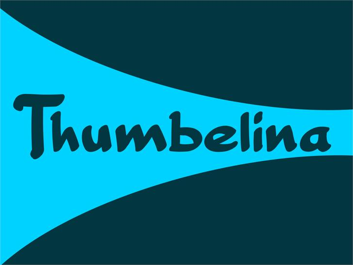 Thumbelina font by VVB DESIGNS