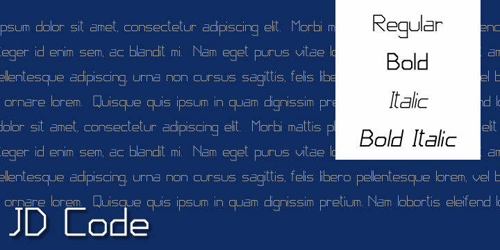 Image for JD Code font