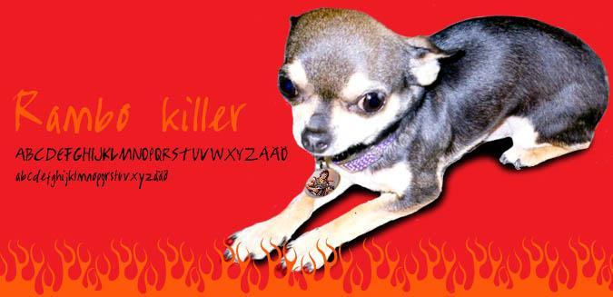 Image for Rambo Killer  font